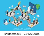 business start  ladders to... | Shutterstock .eps vector #234298006