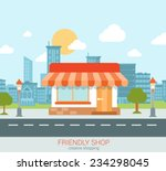 flat style modern tiny friendly ... | Shutterstock .eps vector #234298045
