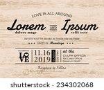 vintage typography wedding... | Shutterstock .eps vector #234302068