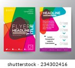 abstract colorful brochure... | Shutterstock .eps vector #234302416