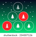christmas trees collection with ... | Shutterstock .eps vector #234307126