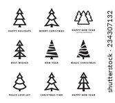 black christmas trees...   Shutterstock .eps vector #234307132