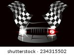 checkered flag racing | Shutterstock . vector #234315502