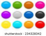 starburst  flash shapes in 12... | Shutterstock .eps vector #234328342