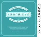 christmas retro typography and... | Shutterstock .eps vector #234328516