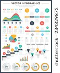 big pack of data visualization... | Shutterstock .eps vector #234329872