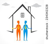 build your home or buy new home ... | Shutterstock .eps vector #234342328