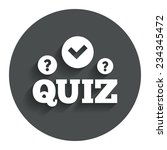 quiz with check and question... | Shutterstock .eps vector #234345472