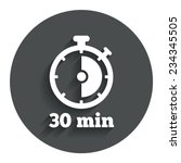 timer sign icon. 30 minutes... | Shutterstock .eps vector #234345505