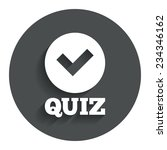 quiz with check sign icon....