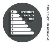 energy efficiency sign icon....