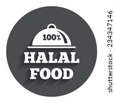 100  halal food product sign...