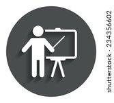 presentation sign icon. man...