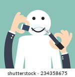 changing the unhappy to smiley  ... | Shutterstock .eps vector #234358675