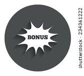 bonus sign icon. special offer...