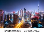 Beautiful Night City Cityscape Dubai - Fine Art prints