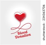 Donate Blood Logo Concept....