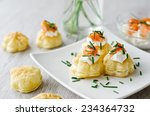 Puff Pastry With Smoked Salmon...