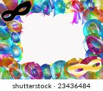 a frame for carnival party | Shutterstock . vector #23436484