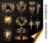 set of medieval heraldry | Shutterstock .eps vector #234380146