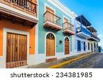 Street In Old San Juan  Puerto...
