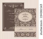 wedding invitation cards ... | Shutterstock .eps vector #234382165