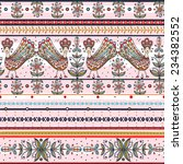 vector  seamless pattern with... | Shutterstock .eps vector #234382552