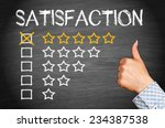 total satisfaction   five stars | Shutterstock . vector #234387538