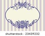 vintage roses frame   Shutterstock .eps vector #23439232