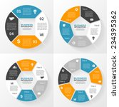 vector circle infographics set. ... | Shutterstock .eps vector #234395362