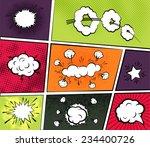 vector comic boom or blast...   Shutterstock .eps vector #234400726