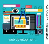 concept of web design and... | Shutterstock .eps vector #234409492
