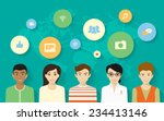 vector concept design of young... | Shutterstock .eps vector #234413146
