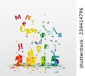 merry christmas geometric card... | Shutterstock .eps vector #234414796