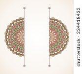 floral oriental pattern. | Shutterstock .eps vector #234418432