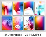 set of flyer design  web... | Shutterstock . vector #234422965