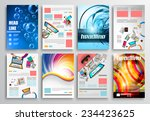 set of flyer design  web...