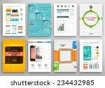 set of flyer  brochure design... | Shutterstock .eps vector #234432985