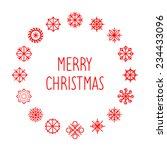 vector merry christmas card... | Shutterstock .eps vector #234433096