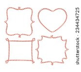 blank candy cane borders   Shutterstock .eps vector #234434725