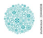 social networking vector...   Shutterstock .eps vector #234440038
