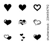 vector hearts icon set on white ... | Shutterstock .eps vector #234454792