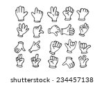 cartoon hand gloved  ... | Shutterstock .eps vector #234457138