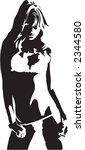 lingerie babe | Shutterstock .eps vector #2344580