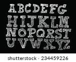 hand drawn letters font written ... | Shutterstock .eps vector #234459226