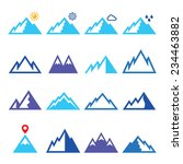 mountains vector blue icons set ... | Shutterstock .eps vector #234463882