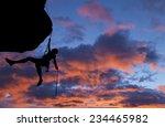 climber rappells from the... | Shutterstock . vector #234465982
