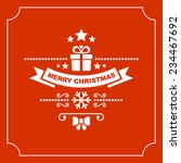 red christmas greeting card... | Shutterstock .eps vector #234467692