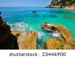 gorgeous mediterranean beach in ... | Shutterstock . vector #23446900