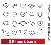 hearts icons  vector set of... | Shutterstock .eps vector #234472018